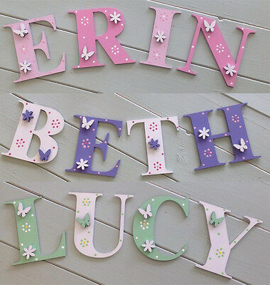 Personalised Wooden Door Letters Bedroom Name Plaque or Toy Box Times New