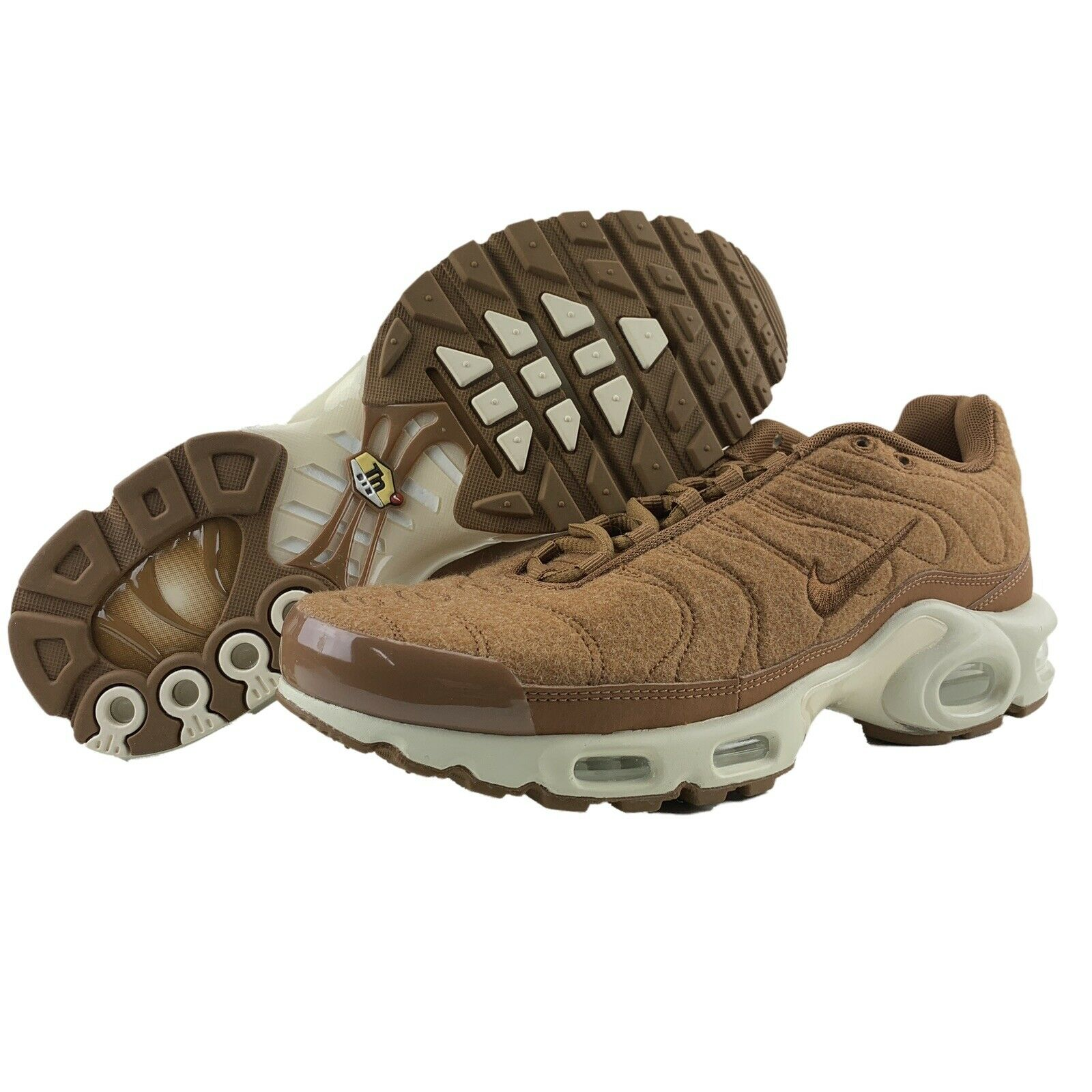 Nike Air Max Plus TN Size 9 Mens Quilted Ale Brown Sail Running shoes Women 10.5