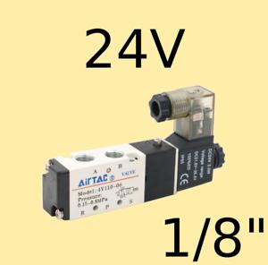 Pneumatik-Ventil-5-2-Wege-24-Volt-1-8-034-1-5-8-bar-5-2-Wegeventil-Magnetventil