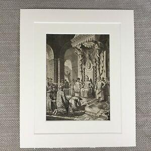 Antik-Original-Gravierung-18th-Century-Chinesisch-Kaiser-Ambassador-n-Parr
