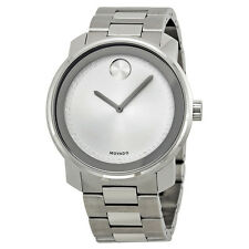 Movado Bold Silver Dial Stainless Steel Mens Watch 3600257