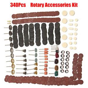 340Pcs-Dremel-Rotary-Tool-Accessories-Kit-Grinding-Polishing-Cutting-Sanding