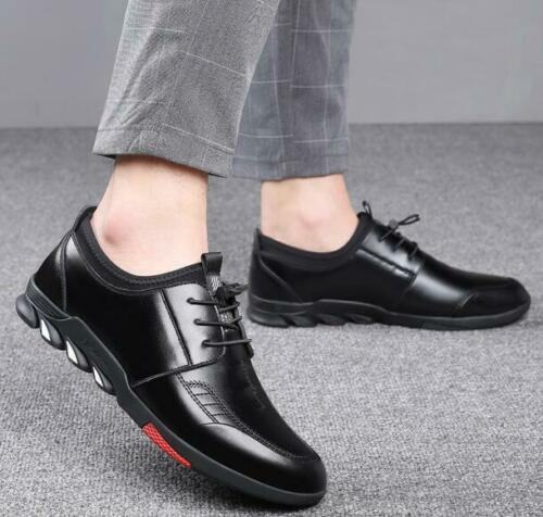 Chic Men/'s Business Lace Up Flat Round Toe Leather Formal Dress Casual Shoes New