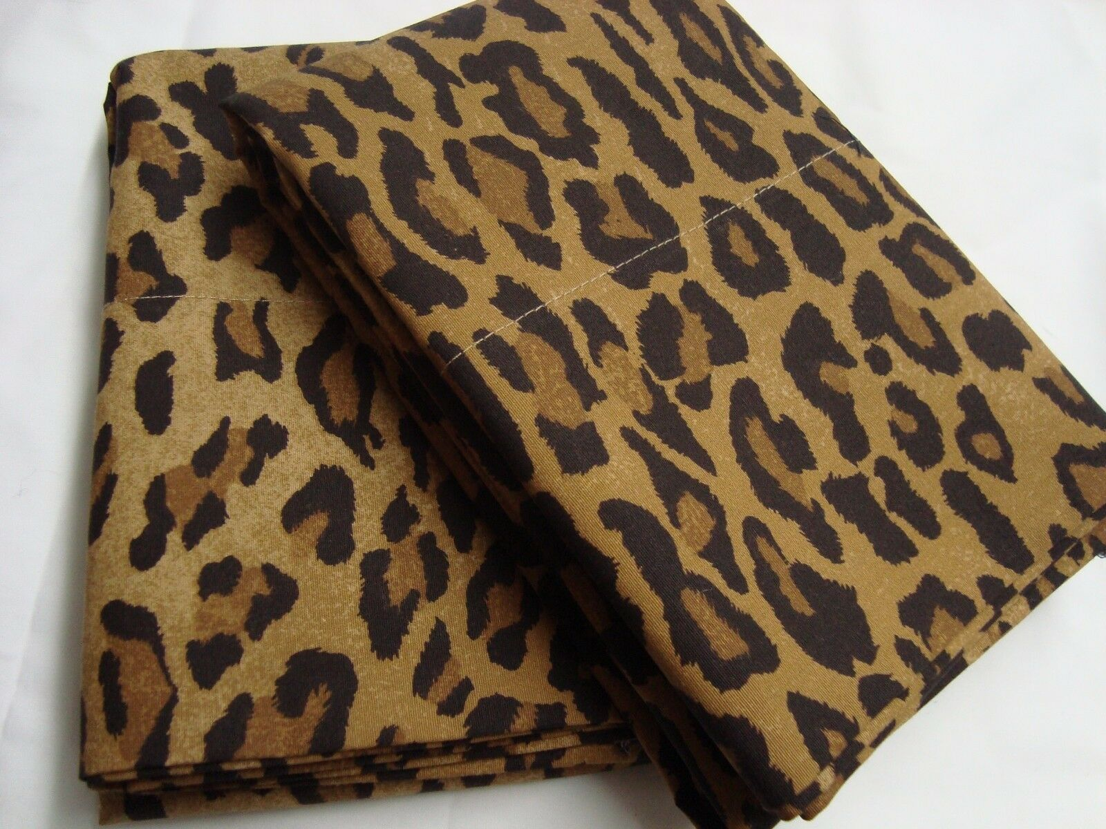 2 king Pillowcases Set mw Two New Ralph Lauren ARAGON leopard 200tc fabric