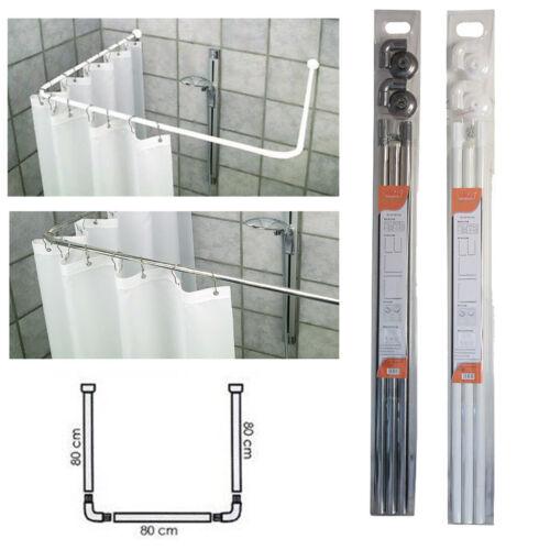 Telaio Bastone sostegno per tenda tende doccia docce 80x80x80 cm bianco acciaio