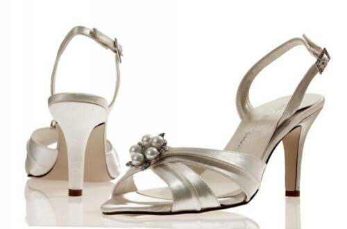 Ivory satin bridal bridesmaid wedding shoes All Sizes Pure & Precious Phoenix
