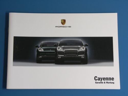 2002-2007 NUOVO manuale di servizio PORSCHE Cayenne S Turbo MANUTENZIONE LIBRETTO MANUTENZIONE 9pa MJ