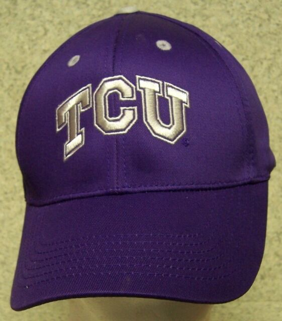 5fe0f5fdf6d Embroidered Baseball Cap NCAA TCU Texas Christian Horned Frogs NEW 1 hat  fit all