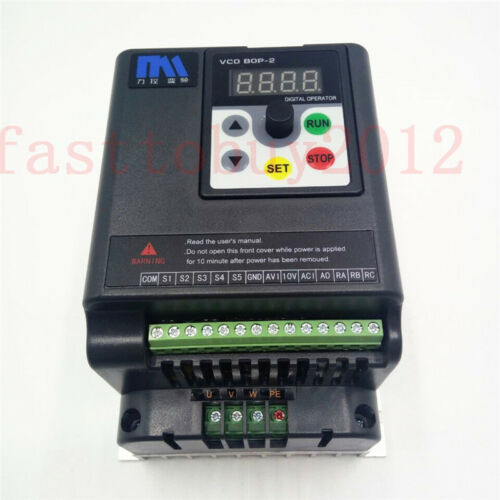 2.2KW 3HP 380V 5.8A 500Hz VFD for 3 Phase Asynchronous Motor Speed Controller