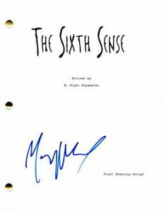 M-M-NIGHT-SHYAMALAN-SIGNED-AUTOGRAPH-THE-SIXTH-SENSE-MOVIE-SCRIPT-BRUCE-WILLIS