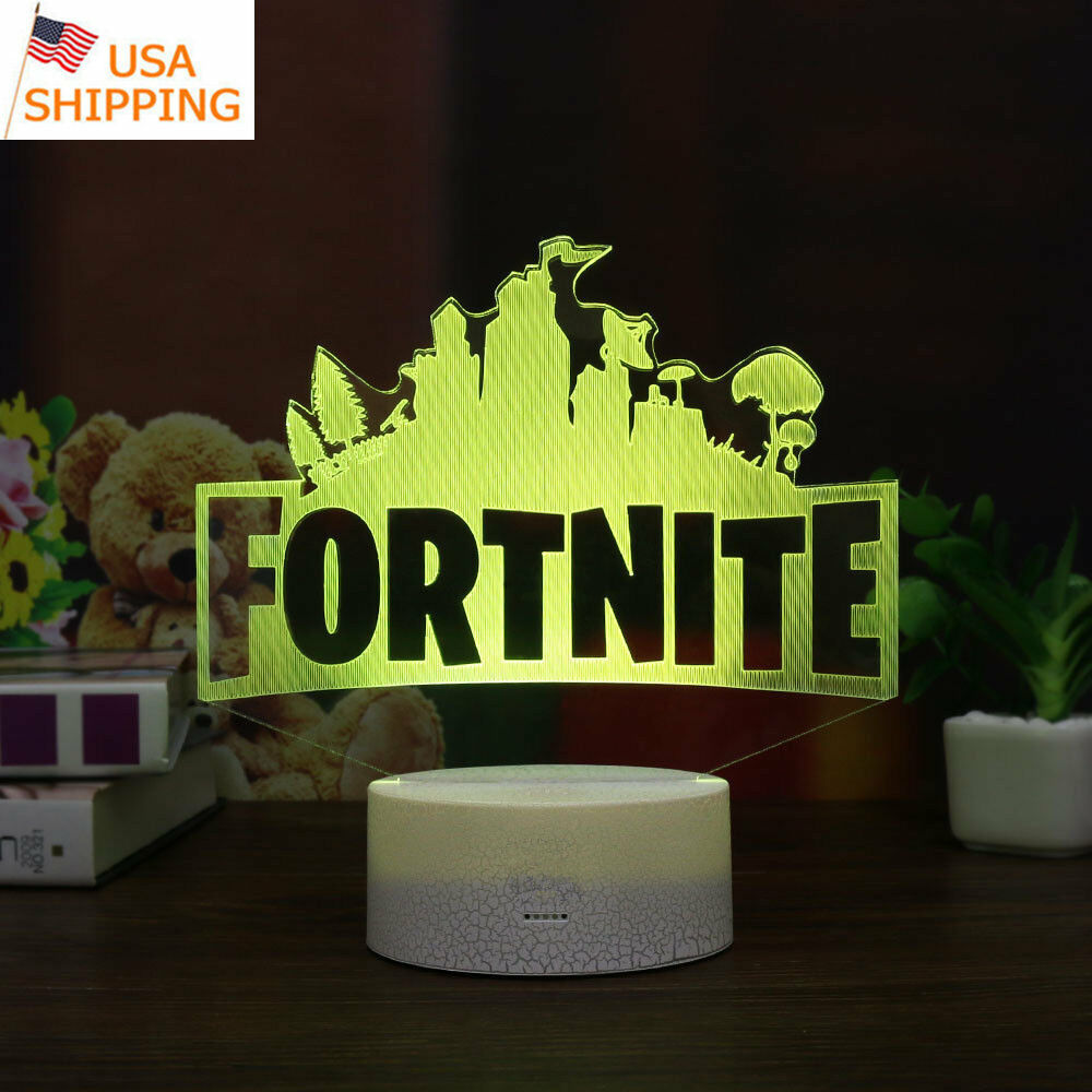 FORTNITE Game 3D LED Decor Night Light Light Light Touch Table Lamp Bedroom Xmas Gift 7 Colo b008be