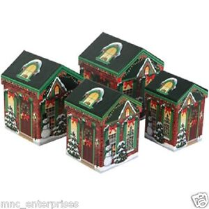 Details About Christmas House Shaped Gift Boxes 4 Sizes To Choose 3 Varieties
