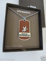 In Box Duck Dynasty Stainless Steel & Wood Inlay Tag Pendant Free Shipping
