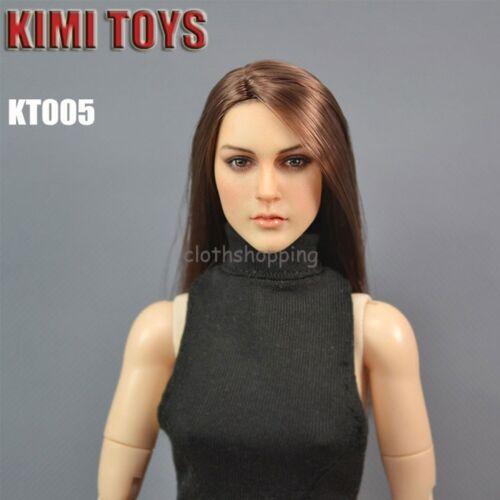 1//6 Scale KIMI TOYS Female Head Sculpt Fit 12/'/' Phicen Body Figure KT004-KT009