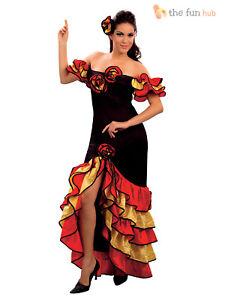 Deguisement Danseuse Flamenco Femme Costume Tenue Espagnole Senorita