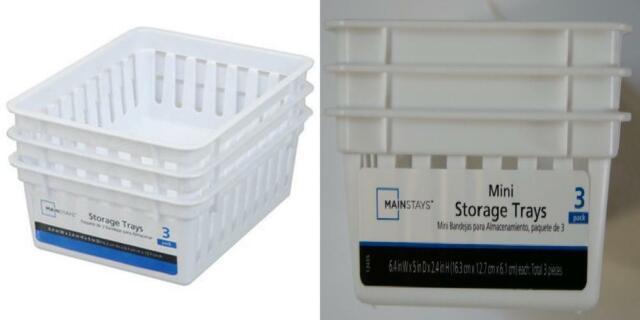 Basic Square Mini Bin Storage Trays
