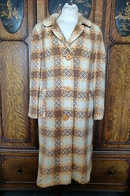 1950s/60s Vintage Irish Craft Stava Lana Cappotto-mostra Il Titolo Originale Aspetto Elegante
