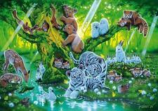 CLEMENTONI FLUORESCENT PUZZLE MOTHER TREE NISHINO 1000 PCS WHITE TIGERS #39262