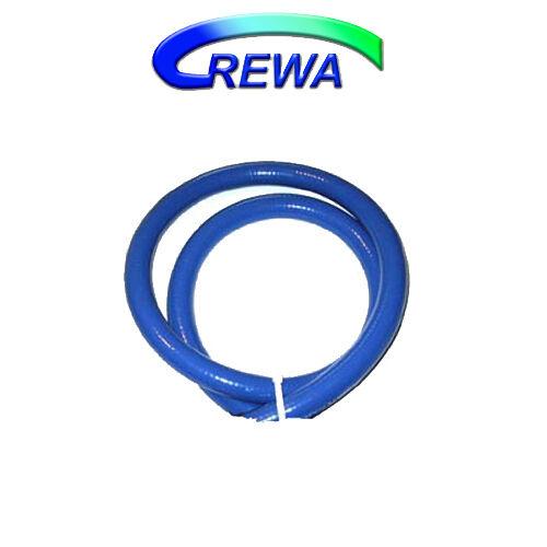 """1/"""" Saugschlauch außen blau innen weiß mit Metallspirale 1A Qualität innen 25mm"""