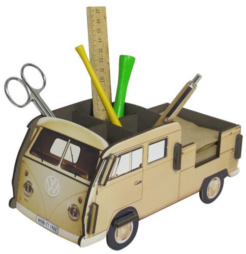 Werkhaus MDF-Steckbausatz Stiftebox Zettelbox VW-Bus Bulli T1 Doppelkabine