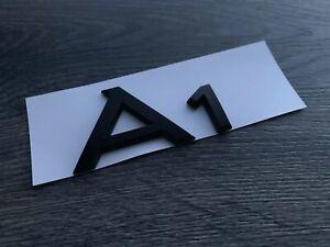 AUDI-A1-MATT-BLACK-REAR-BADGE-CUSTOM-A1-TDI-S-LINE-TFSI-BLACK-EDITION-UK-STOCK