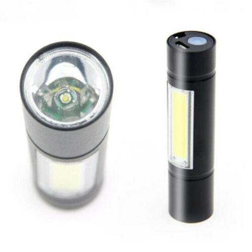 USB Camping Hiking LED Portable COB Lamp Q5 USB Flashlight flash torch battery