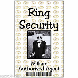 Photo ID Card For Wedding Ring Security Childs ID Badge With Free - Ring security badge template