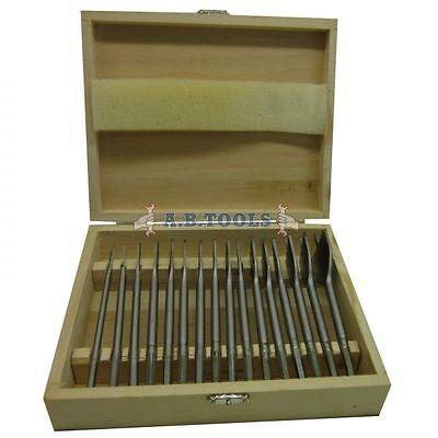 16pc Flat Wood Drill Bit Set / Woodworking / Carpentry Tools 6mm  38mm TE558