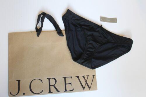 NWT J Crew Bikini Bottom in Italian Matte BLACK Sz Medium A0488 $44