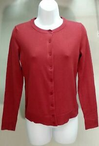 NWT Charter Club Women's Dark Red Solid Cardigan Sweater Size: PS