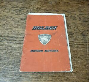 Vintage-1950s-Holden-Owners-Manual-FE-FJ-w-Intelligent-Braking-Insert