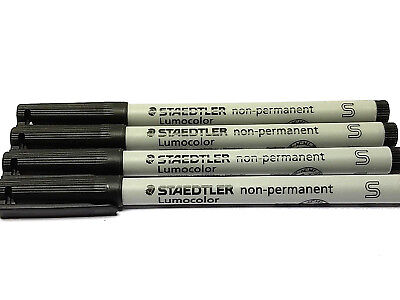 Red Fine 4 each 316-2   New! Staedtler Lumocolor Non-Permanent pen