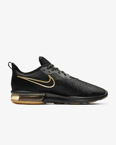 Nike Men's Air Max Sequent 4 Black Running Shoes (AO4485 005)