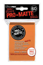 SMALL Ultra Pro Matte (60 Ct) - ORANGE - SLEEVES Size Card  YUGIOH 84266