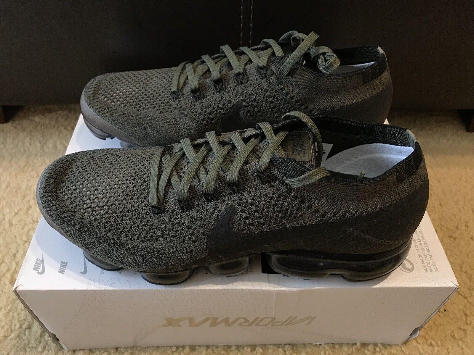 Nike Air Vapormax Flyknit Men's Men's Men's 10.5 Cargo Khaki Black Medium Olive 849558 300 8f0aca