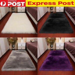 Faux Wool Fluffy Plush Fur Rug