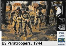 1/35 Master Box 3511 U.S. WWII Paratroopers (1944) 3 Figure  Plastic Model Kit