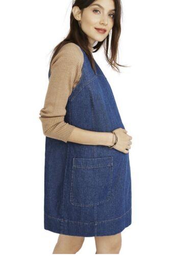 Hatch maternité Femme le Edie Robe Denim Coton Pull Taille 2 NEUF M//8-10
