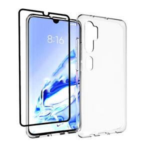 Coque-pour-Xiaomi-Mi-Note-10-Pro-integrale-3D-Protection-D-039-ecran-Verre-Clair-Gel-Housse