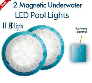 swimming pool led lights remote control lamp magnetic bright, Reel Combo