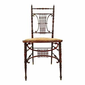 Pleasant Details About Antique Heywood Brothers Wakefield Company Victorian Side Chair Ncnpc Chair Design For Home Ncnpcorg