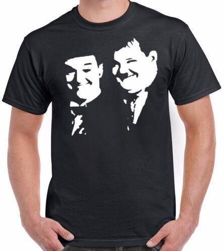 Dick /& Doof Komödie Inspiriert T-Shirt Hollywood Ikonen Laurel und Hardy Top