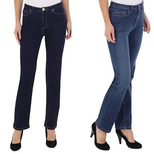 Ex-M-amp-S-Women-Ladies-Mid-Rise-Jeans-Lift-Straight-Stretch-Pants-6-24-Mark-Spencer