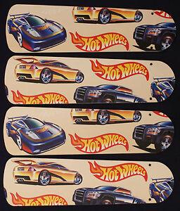 New hot wheels race cars 42 ceiling fan blades only ebay new hot wheels race cars 42 034 ceiling aloadofball Gallery