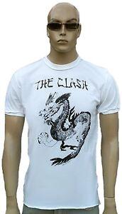 Amplified-Clash-DRAGON-ROCK-STAR-VINTAGE-cucito-Designer-Maglietta-G-XL-XXL