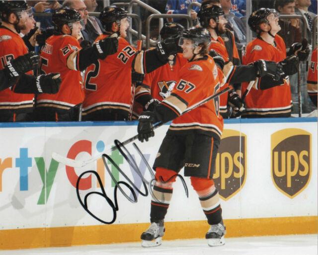 Anaheim Ducks Rickard Rakell Signed Autographed 8x10 Photo COA C