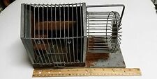 Small Vintage Hendryx Hamster Mouse Cage with Running Wheel