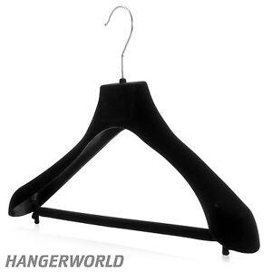 Appendini Per Giacche.Hangerworld 42cm Grucce Velluto Antiscivolo Cappotti Giacche