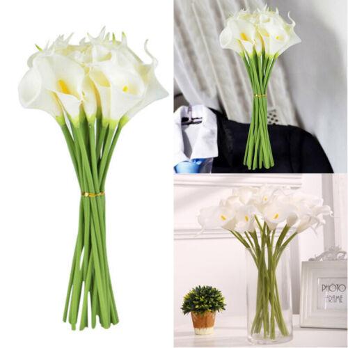 10X 38cm Flores Artificiais Calla Lily Single Haste Longa Buquê Para Casa Decoração De Mesa