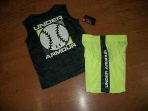 NWT boys Under Armour 2 pc tank//shorts set size 5 size 6